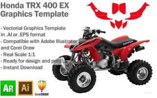 Honda TRX 400 EX ATV Quad Graphics Template