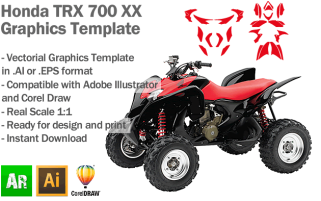 Honda TRX 700 XX ATV Quad Graphics Template