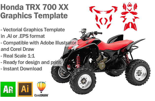 Honda TRX 700 XX ATV Quad Graphics Template - Artabrian - Motocross ...