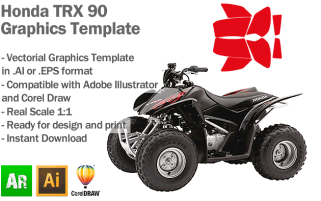 Honda TRX 90 ATV Quad Graphics Template