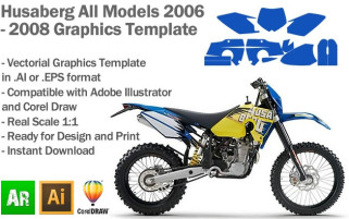 Husaberg Enduro All Models 2006 2007 2008 Graphics Template