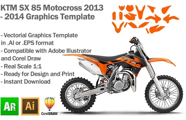 ktm sx 85 mx motocross 2013 2014 2015 graphics template artabrian motocross mx graphic templates. Black Bedroom Furniture Sets. Home Design Ideas