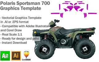 Polaris Sportsman 700 ATV Quad Graphics Template