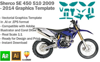 Sherco SE 450 510 Enduro 2009 2010 2011 2012 2013 2014 Graphics Template