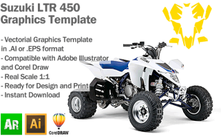 Suzuki LTR 450 ATV Quad Graphics Template