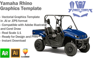 Yamaha Rhino ATV Quad Graphics Template