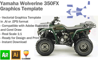 Yamaha Wolverine 350FX ATV Quad 2003 2004 Graphics Template