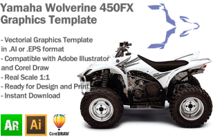 Yamaha Wolverine 450FX ATV Quad 2006 2007 2008 Graphics Template