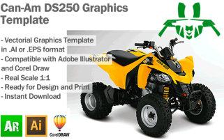 Can-Am DS250 ATV Quad Graphics Template