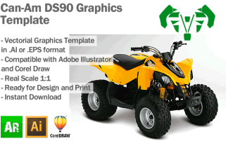 Can-Am DS90 ATV Quad Graphics Template