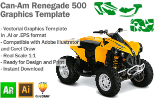 Can-Am Renegade 500 ATV Quad Graphics Template