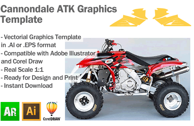 Cannondale ATK ATV Quad Graphics Template