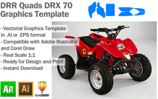 DRR Quads DRX 70 ATV Quad Graphics Template