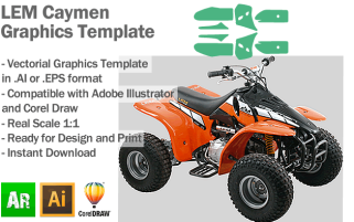 LEM Caymen ATV Quad Graphics Template