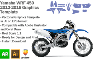 Yamaha WRF 450 Enduro 2012 2013 2014 2015 Graphics Template
