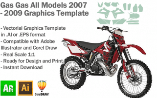 Gas Gas Enduro MX Motocross All Models 2007 2008 2009 Graphics Template