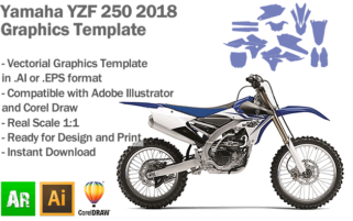 Yamaha YZF 250 MX Motocross 2018 Graphics Template