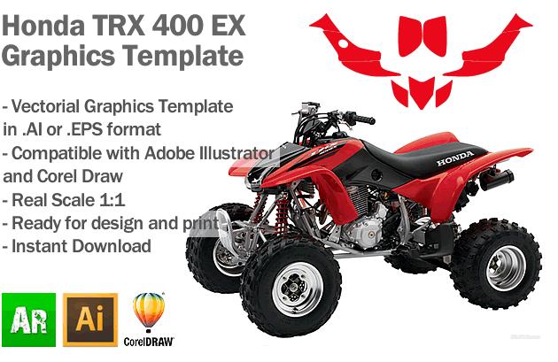 Honda TRX 400 EX ATV Quad Graphics Template