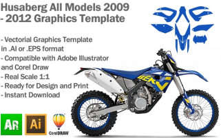 Husaberg Enduro All Models 2009 2010 2011 2012 Graphics Template