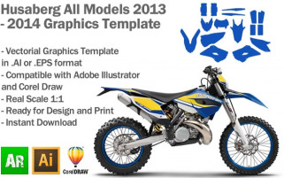 Husaberg Enduro All Models 2013 2014 Graphics Template
