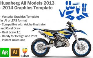 Husaberg Enduro All Models 2013 2014 Graphics Template