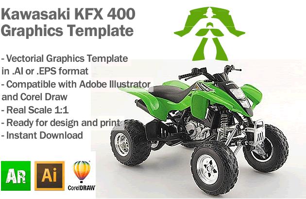 Kawasaki KFX 400 ATV Quad Graphics Template
