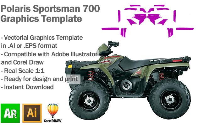 Polaris Sportsman 700 ATV Quad Graphics Template
