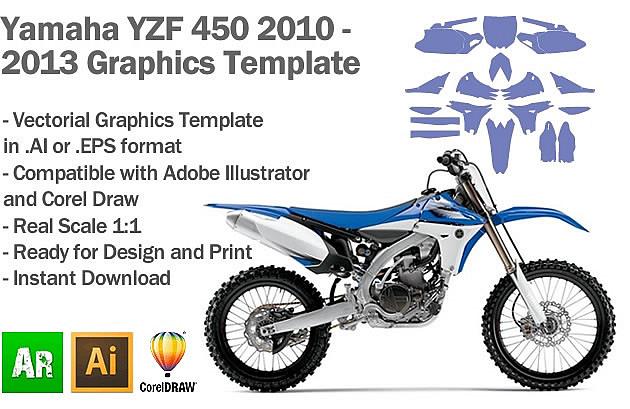 Yamaha YZF 450 MX Motocross 2010 2011 2012 2013 Graphics Template