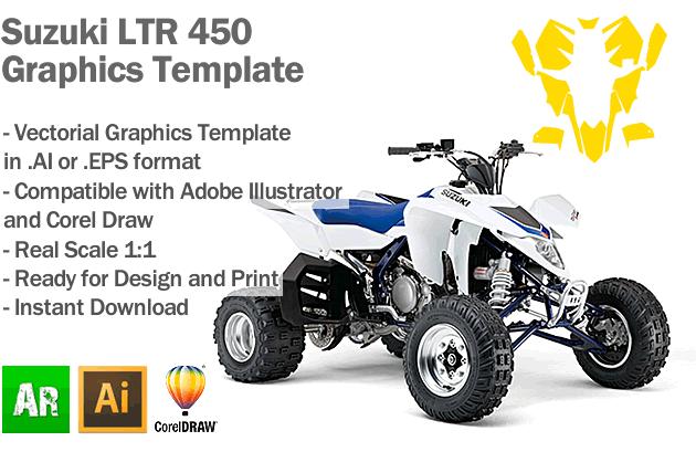 Suzuki LTR 450 ATV Quad Graphics Template