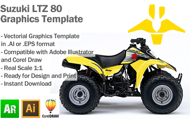 Suzuki LTZ 80 ATV Quad Graphics Template