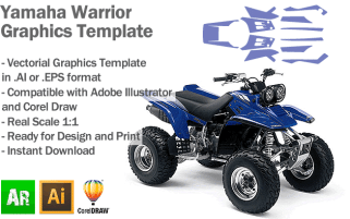 Yamaha Warrior ATV Quad Graphics Template