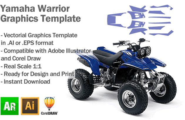 Yamaha Warrior ATV Quad Graphics Template