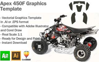 Apex 450F ATV Quad Graphics Template