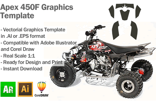 Apex 450F ATV Quad Graphics Template