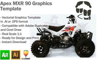 Apex MXR 90 ATV Quad Graphics Template