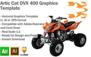 Artic Cat DVX 400 ATV Quad Graphics Template