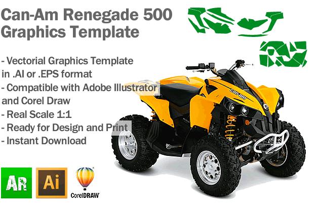 Can-Am Renegade 500 ATV Quad Graphics Template