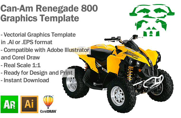 Can Am Renegade 800 >> Can Am Renegade 800 Atv Quad Graphics Template