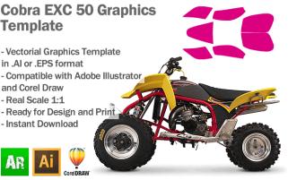 Cobra EXC 50 ATV Quad Graphics Template