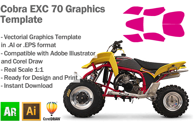 Cobra EXC 70 ATV Quad Graphics Template