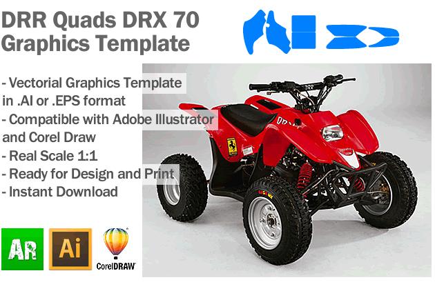 DRR Quads DRX 70 ATV Quad Graphics Template