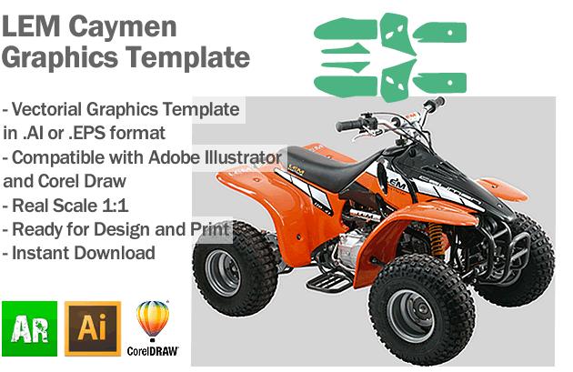 LEM Caymen ATV Quad Graphics Template