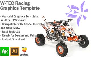 W-Tec Racing ATV Quad Graphics Template