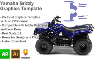 Yamaha Grizzly ATV Quad Graphics Template