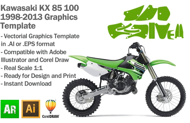 kawasaki kx 85 100 mx motocross 1998 1999 2000 2001 2002. Black Bedroom Furniture Sets. Home Design Ideas