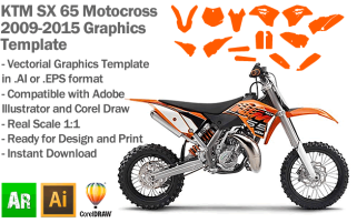 KTM SX 65 MX Motocross 2009 2010 2011 2012 2013 2014 2015 Graphics Template