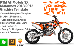 KTM SX MX Motocross All Models 2013 2014 2015 Graphics Template