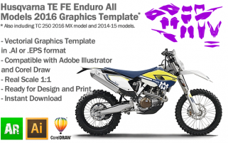 Husqvarna TE FE Enduro All Models 2016 Graphics Template