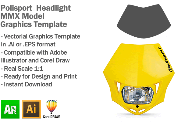 Polisport Headlight MMX Model Graphics Template
