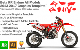 Beta RR Enduro All Models 2013 2014 2015 2016 2017 Graphics Template